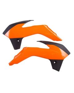ACERBIS ORANGE/BLACK RADIATOR SHROUDS