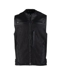 TOUGH AS NAILS LEATHER/WAXED CANVAS VEST