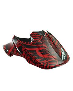 FLY F2 VISOR BLK/RED