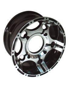 SUPER GRIP BLACK MACHINED CAST ALUMINIUM RIM