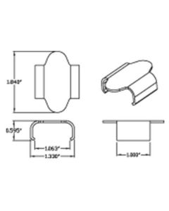 TRACK CLIPS WIDE 10PK