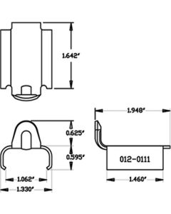 TRACK CLIP 1'' L-CLIP (AFT120111) PACKAGE OF 10