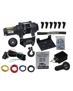 BRONCO BLACK WIRELESS 3500LBS WINCH