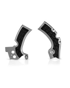 Acerbis Silver/Black X-Grip Frame Guards