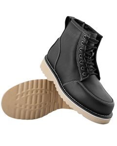 OVERHAUL LEATHER BOOTS SIZE 8 BLACK