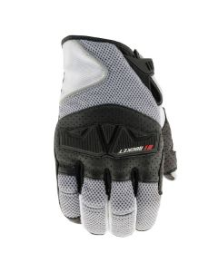JOE ROCKET TRANS CANADA MESH GLOVE SIZE SMALL WHITE GREY