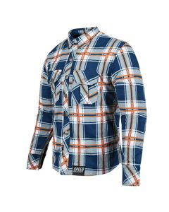 RUST AND REDEMPTION ARMORED MOTO SHIRT SIZE SM BLUE