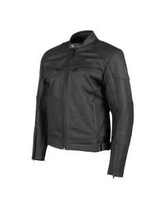JOE ROCKET RASP LEATHER JACKET SIZE SMALL BLACK