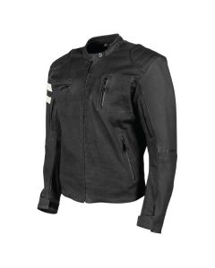 JOE ROCKET 67 LEATHER/TEXTILE JACKET SIZE SMALL BLACK