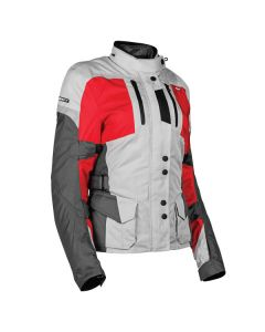 JOE ROCKET LADIES BALLISTIC 14.0 JACKET SIZE XS SILVER RED