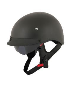 JOE ROCKET RKT 4 HALF HELMET SIZE XS MATTE BLACK SINGLE LENS