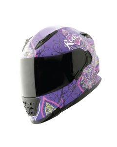 JOE ROCKET RKT 13 HEARTBREAKER SIZE XS PURPLE/SILVER/NEON SINGLE LENS