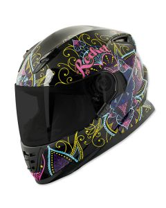 JOE ROCKET HEARTBREAKER RKT 13 FULL FACE HELMET SIZE XS BLACK/PINK SINGLE LENS