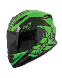 JOE ROCKET NORTHERN LIGHTS RKT 13 FULL FACE HELMET SIZE XS GREEN SINGLE LENS