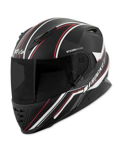 JOE ROCKET REFLEX RKT 16 FULL FACE HELMET SIZE XS MATTE BLACK SINGLE LENS
