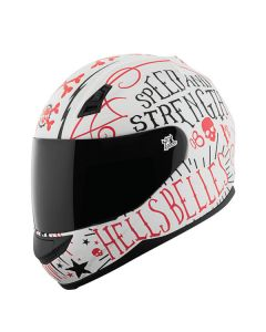 HELL'S BELLES SS700 HELMET SIZE XS RED/WHITE