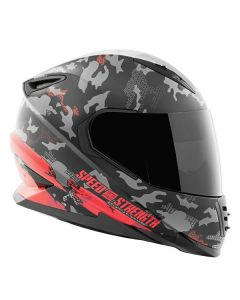 STRAIGHT SAVAGE SS1600 HELMET SIZE SM RED/BLACK
