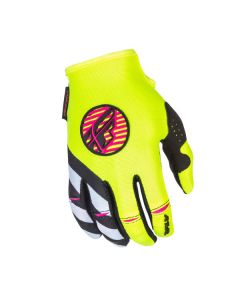FLY RACING KINETIC LADIES GLOVE SIZE YOUTH MEDIUM PINK/HIGH-VISIBILITY