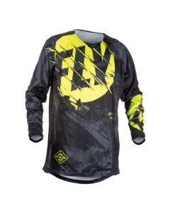 FLY RACING KINETIC OLW JERSEY SIZE SMALL BLACK/HIGH-VISIBILITY