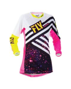 FLY RACING KINETIC LADIES JERSEY SIZE SMALL PINK/HIGH-VISIBILITY