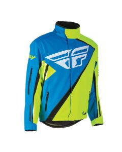 FLY RACING SNX PRO JACKET SIZE SMALL BLUE/HIGH-VISIBILITY YELLOW
