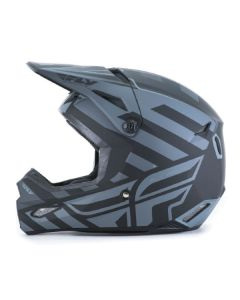FLY RACING ELITE COLD WEATHER INTERLACE HELMET SIZE XS MATTE GREY/BLACK