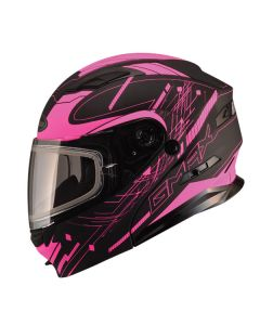 GMAX MD04 MODULAR HELMET SIZE LARGE PINK ELECTRIC LENS