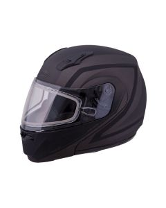 GMAX MD04 DOCKET MODULAR HELMET SIZE 3XL SILVER ELECTRIC LENS