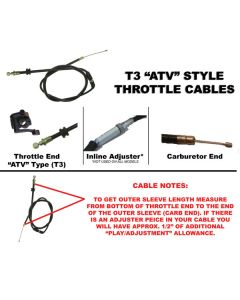 OUTSIDE DISTRIBUTING INNER SLEEVE THROTTLE CABLE(62-00614)