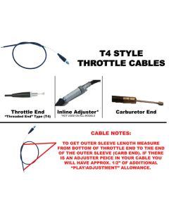 OUTSIDE DISTRIBUTING INNER SLEEVE THROTTLE CABLE(62-00616)