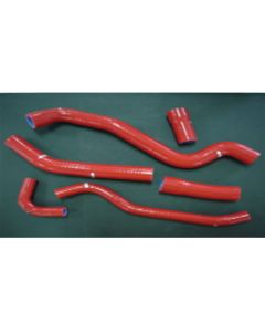 Psychic Red Silicon Radiator Hose Kit