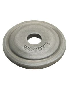 WOODY'S ROUND ALUMINUM BACKER PLATES